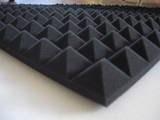 Mail2Mail Panneau à absorption acoustique à relief pyramidal Anthracite 49 x 49 x 4cm Densité de 30 kg/m3