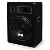Malone PW1522 Enceinte de sono passive haut-parleur DJ (PA 850W avec subwoofer de 38cm, système à 3 voies, transport facile) ...