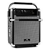 Malone Rock Fortress - Enceinte de sono mobile avec Bluetooth, USB pour MP3, radio FM et entrée AUX (batterie, entrée ...