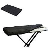 Merssavo Housse de Protection Tissu Noir pour Piano 61 Touches Clavier