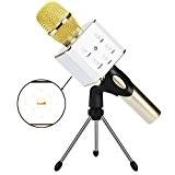 Micro Sans Fil de Karaoké CrazyFire micro karaoke bluetooth,2 en 1 Haut-Parleurs Portable,Téléphone Portable Micro Haut-Parleur, avec 2600mAh Batterie-intégré, pour ...