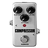 Mini Compresseur Pédale à Effet Avec True Bypass Pour Guitare Electrique - Argent