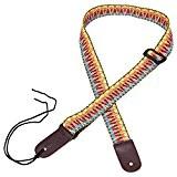 Mugig Sangle en coton réglable avec l'extrémité en cuir pour Ukulele
