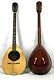 Musikalia Bouzouki grec GAUCHER, en bois de padouk, table d'harmonie purflée et marquetée, modèle par concert, de lutherie