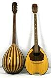Musikalia Bouzouki grec GAUCHER, en noyer Mansonia et érable, table d'harmonie purflée et marquetée, de lutherie