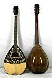 Musikalia ELECTRIFIEE Bouzouki grec (avec étui rigide en ABS profilée), table d'harmonie et tête richement sérigraphiées - modèle JOUÉ PAR ...