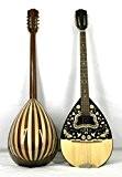 Musikalia ELECTRIFIEE Bouzouki grec GAUCHER, en noyer Mansonia et érable, table d'harmonie et tête richement sérigraphiées, de lutherie