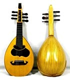 Musikalia Mando-Luth ou Mandoline Lombarde XVIII siècle, en érable, touche par concert excavée, table d'harmonie marquetée, chevilles en palissandre, manche ...