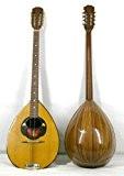 Musikalia VINTAGE ELECTRIFIEE Bouzouki grec (avec étui rigide en ABS profilée), en zebrano, table d'harmonie purflée et marquetée, modèle par ...