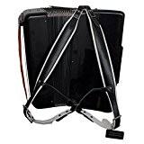 Musique Première en cuir véritable noir et blanc super large épais confortable 96Accordéon 120Basses Sangle d'épaule de sangles accordéon Accordéon ...
