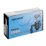 Neewer® (1) NW-1500 Microphone à Condensateur Broadcast & Record Bureau Professionnel avec Câble Audio + (1) NW-02 Support Micro Desktop ...