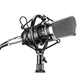 Neewer® NW-700 Microphone Micro Condensateur Professional Studio Radio Record Enregistrement Kit Comprenant: (1) NW-700 Microphone à Condensateur Noir + (1) ...