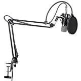 Neewer® nw-700Studio professionnel radiodiffusion Microphone à condensateur enregistrement & nw-35Bras de suspension pour microphone d'enregistrement réglable avec support antichocs et ...