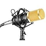 Neewer NW-800 Microphone Enregistrement Studio Radio Kit Inclus (1) Microphone à Condensateur Professionel Noir + (1) Support de Microphone Antichoc ...