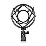 Neewer® Support Clip Fixation Anti-Choc Microphone Universel Noir Anti Vibration Suspension Isolation avec Mic à Condensateur Studio Idéal pour Studio ...