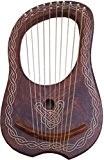 NEW Lyra Harpe 10cordes Rose en bois/lyre Harpe 10cordes en palissandre + Housse de transport