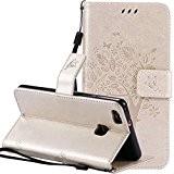 Nnopbeclik Coque Huawei P9 Lite Neuf Mode Fine Folio Wallet/Portefeuille en Bonne Qualité PU Cuir Housse pour Huawei P9 Lite ...