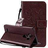Nnopbeclik Coque LG G4 Cuir Mode Fine Folio Wallet/Portefeuille en Bonne Qualité PU Cuir Housse pour LG G4 Coque Cuir ...