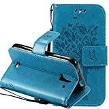 Nnopbeclik Mode Fine Folio Wallet/Portefeuille en Bonne Qualité PU Cuir Housse pour Huawei Y360 Coque (4.0 pouce) [Antichoc] Chat et ...