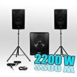 Pack 1515 Sonorisation 2200W Caisson bi-amplifié