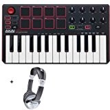 Pack Akai MPK Mini MKII - Mini clavier Pads USB 25 notes + Casque