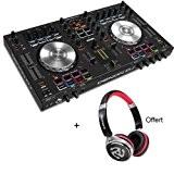 Pack DENON DJ MC4000 - Contrôleur 2 voies + carte son + Casque Offert