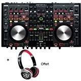 Pack DENON DJ MC6000MK2 - Contrôleur pro 4 voies + carte son + Casque Offert