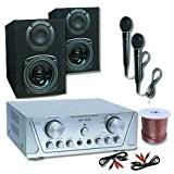Pack DJ PA karaoke hifi 200W enceintes ampli micro sono