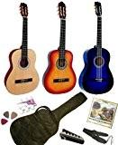 Pack Guitare Classique 1/2 Pour Enfant (6-9ans) Avec 6 Accessoires (bleu)