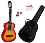 Pack Guitare Classique 1/4 Pour Enfant (4-7ans) Avec 3 Accessoires (Sunburst)