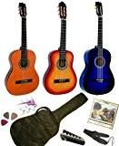 Pack Guitare Classique 1/4 Pour Enfant (4-7ans) Avec 6 Accessoires (nature)
