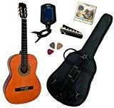 Pack Guitare Classique 4/4 (Adulte) Avec 5 Accessoires (nature)