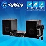 Pack KARAOKE MY SONG enceintes HIFI + 1 ampli 2x50W + 2 micros USB/BT