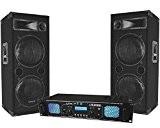 Pack Sono DJ ampli 2x1000w + enceintes 2x600w MA-4