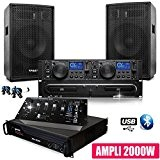 Pack SONO DJ Complet CLUB12 Ampli Gemini Table Mix