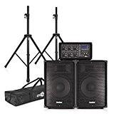 Pack Sono haut-parleurs 300W SubZero avec table de mixage FX + Stands