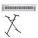 Pack Yamaha NP-32 blanc - Piano numérique 76 touches + stand en X