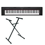 Pack Yamaha NP-32 noir - Piano numérique 76 touches + stand en X