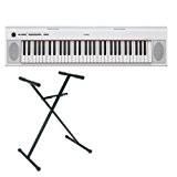 Pack Yamaha Piano numérique NP-12 blanc + stand en X