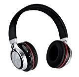 Penzo Casque Audio Pliable Casque Stéréo avec Microphone et Contrôle du Volume sur l'oreille Écouteurs, Casque LED Bluetooth Sans Fil ...