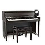 Piano droit numérique DP70U par Gear4music + Pack accessoires