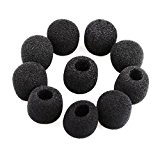 PIXNOR Couverture Bonnette Mousse de Microphone Cravate 15pcs (Noir)