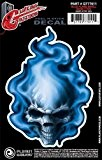 Planet Waves Autocollant pour guitare Planet Waves, Blue Flame Skull