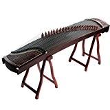 Professional Rosewood chinois Guzheng cithare koto SculptšŠ Avec Cent Phoenixes Face au motif Sun