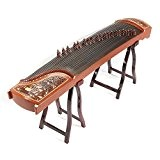 Professional Rosewood chinois Guzheng cithare koto SculptšŠ Avec Motif Carps Saut