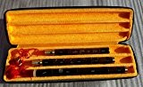 Qualité sculpté Flûte Xiao en bambou Instrument de musique chinois violet en G Clé, doigt 8trous, 3sections