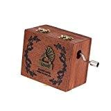 readycor (TM) Rétro Exquis Manivelle Boîte à musique boîte à musique en bois vintage 4motifs différents pour option Beautiful Patterns ...