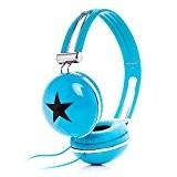 Rockpapa Adultes Garçons Filles Enfants Star Stéréo Casque Audio, Sur les Oreilles, pas de Bruit, Poids Léger, Réglable pour MP3 ...