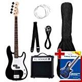 Rocktile 00019332 Groovers Pack PB Set de basse électrique Noir 6 pièces
