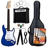 Rocktile 00036284 Set complet Guitare électrique bleue